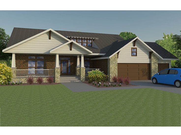Eplans craftsman style house plan open concept craftsman for Open concept craftsman house plans