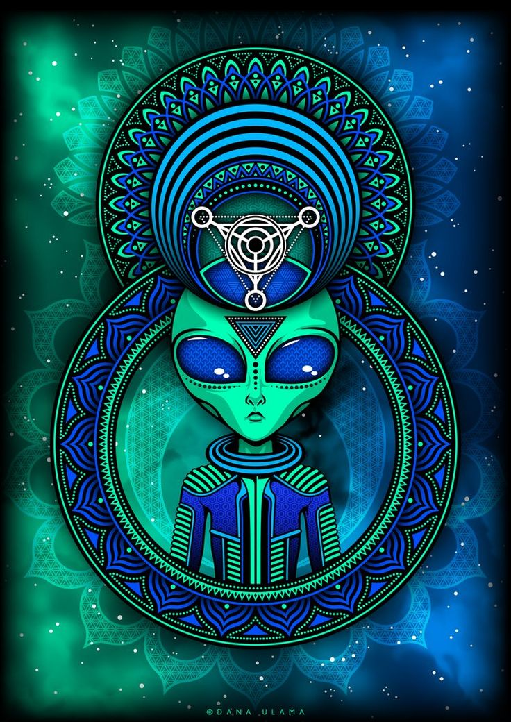 Crop Circle II by DanaUlama Alien desenho, Arte psicodélica