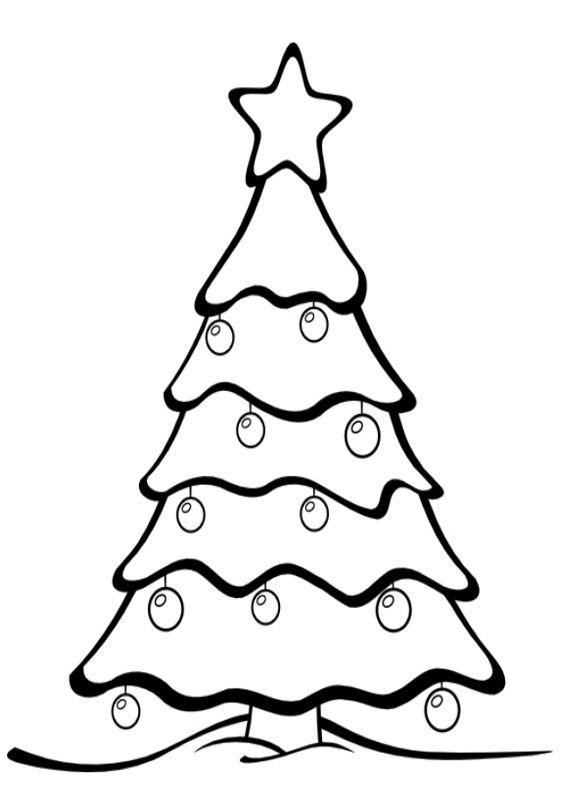 Albero Di Natale Da Colorare.21 Disegni Dell Albero Di Natale Da Colorare Stella