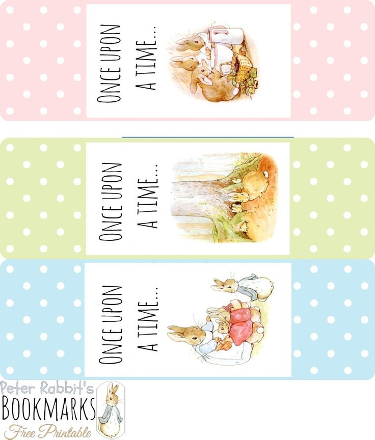 PRINTABLE Peter Rabbit's Bookmarks