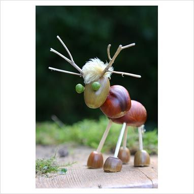 Foraged Reindeer - one of these will be making its way to our seasons display