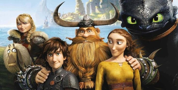 The Haddock family (with future Haddock member Astrid Hofferson)! XD