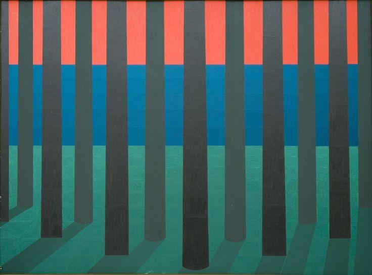 Ryszard Lech, 102-Las, 53x71,plyta,  Ryszard Lech - malarstwo pikselowe w Qadrat Art Gallery http://artimperium.pl/wiadomosci/pokaz/77,ryszard-lech-malarstwo-pikselowe-w-qadrat-art-gallery#.UnWwbflWySo