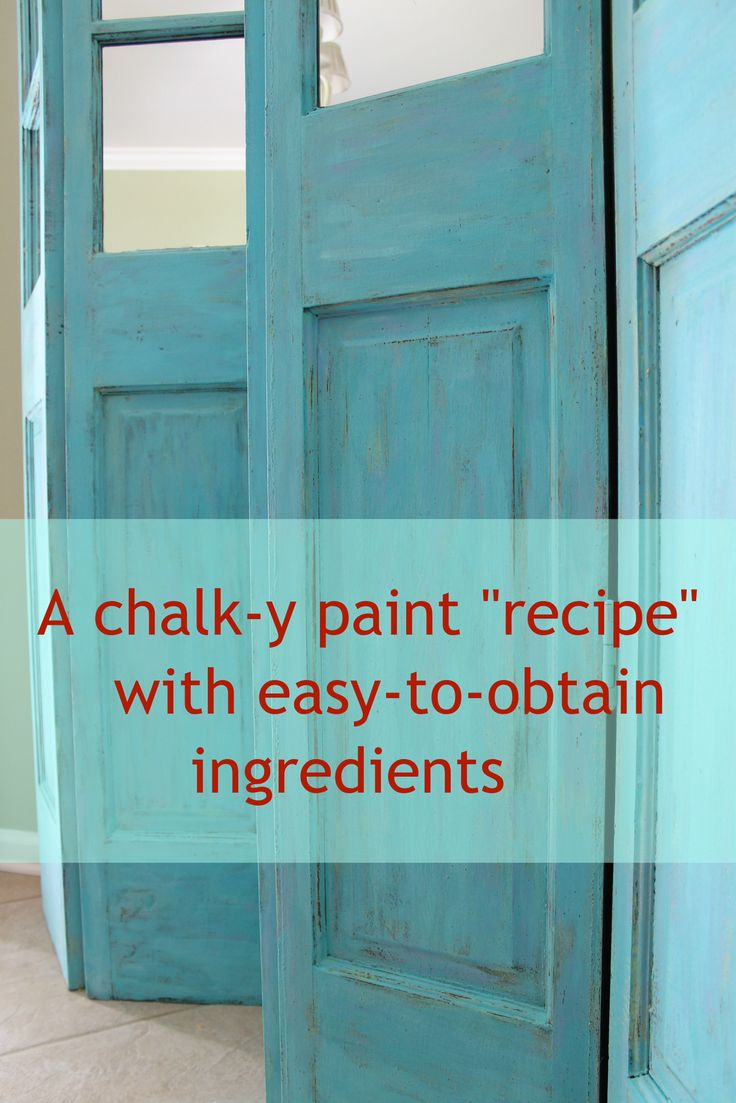 "Homemade chalk paint ""recipe"" with easy to obtain ingredients"