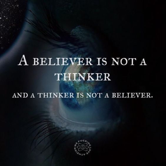 Believers can only think so far, then they have to stop because their beliefs start to be threatened. LDS no more. #quotes