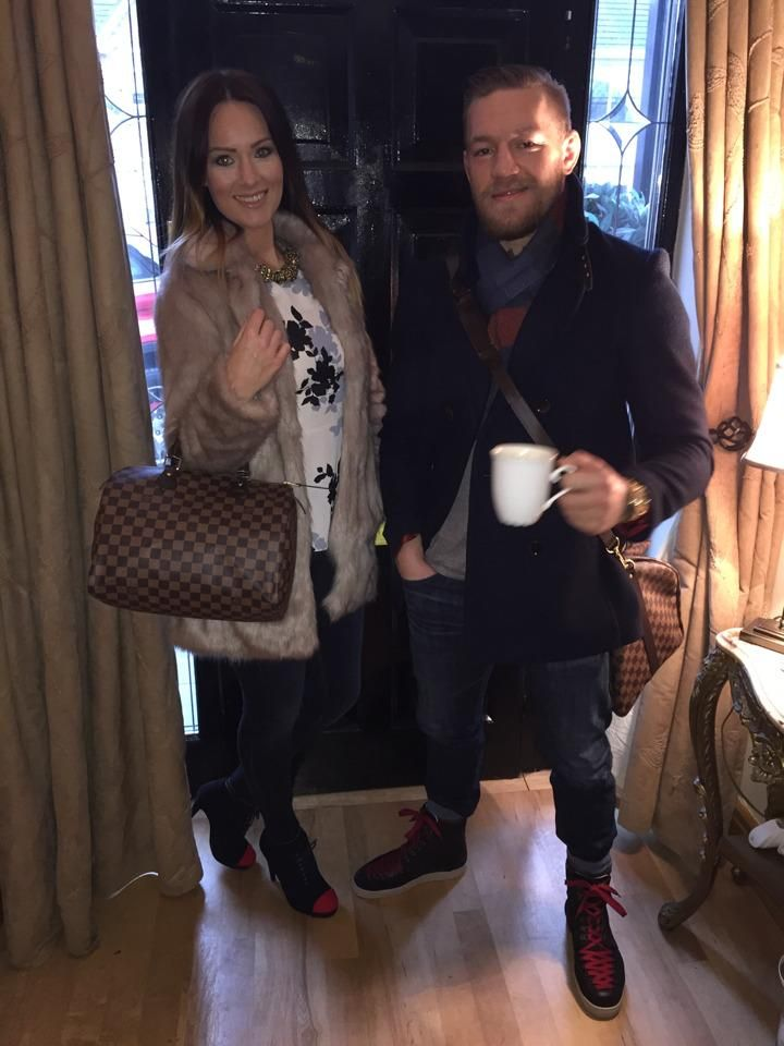 Irish fighter Conor McGregor with girlfriend Dee Devlin : if you love #MMA, you will love the funny & outrageous #MixedMartialArts and #UFC inspired gear at CageCult: http://cagecult.com/mma