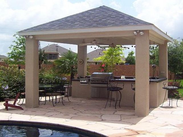 35 best images about outdoor living on pinterest for Detached covered patio plans