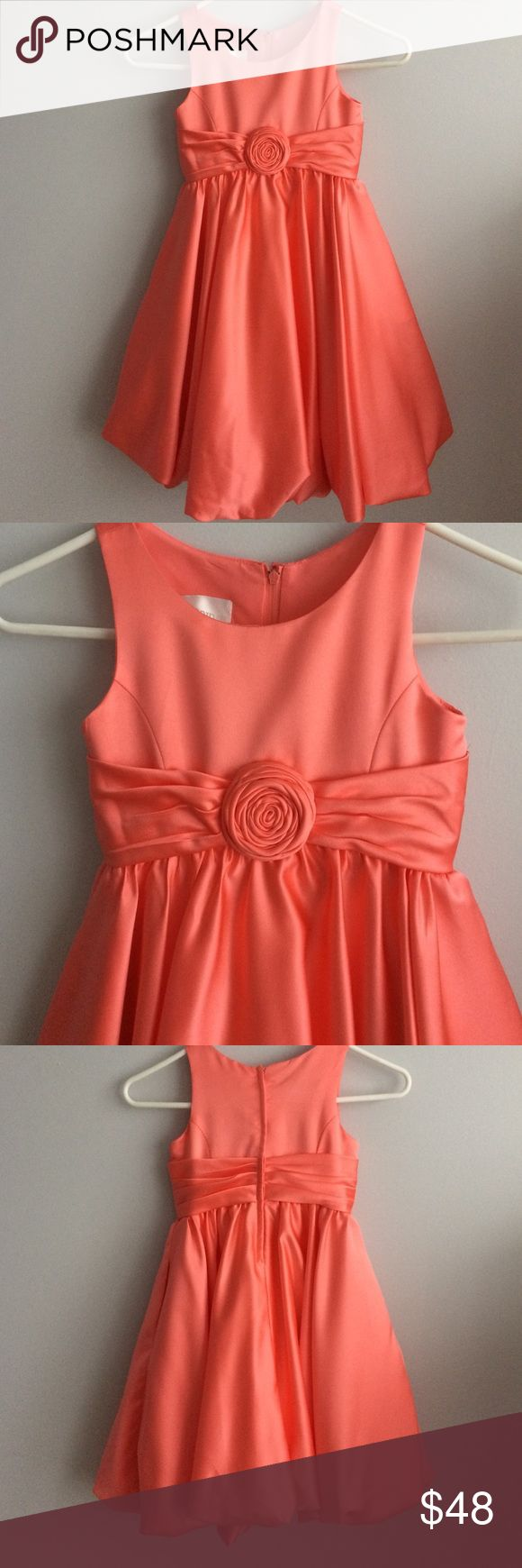 Girls Coral Dress Gorgeous coral reef girls dress, size 6, David's bridal, 100% polyester. Style KP1311. Dress is in excellent condition. Davids Bridal Dresses Formal