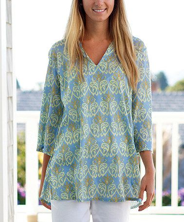Look what I found on #zulily! Bukhara Blue Kurta Tunic #zulilyfinds