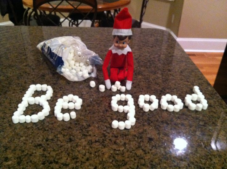 Elf on a shelf idea.. even easier than the M