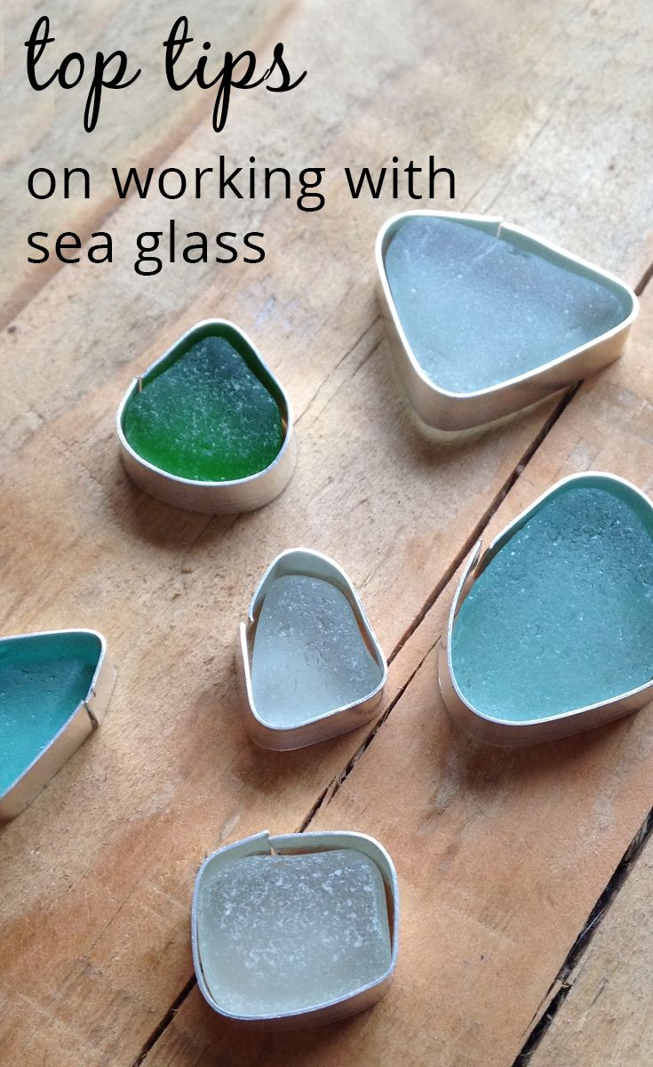 Decor nautical shell mirrors w sea glass starfish amp pearls blue - Great Tips On Working With Sea Glass From The Kernowcraft Blog