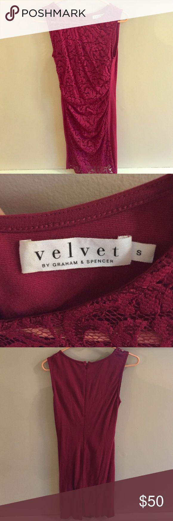 Velvet Graham & Spencer Izzy Stretch Lace Dress Worn only once Velvet by Graham & Spencer Izzy stretch Lace dress - perfect cocktail party dress Velvet Dresses