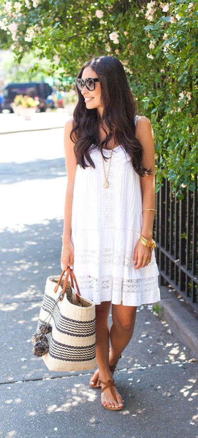 Turn in your LBD for a little white dress that you can take from spring to summer.
