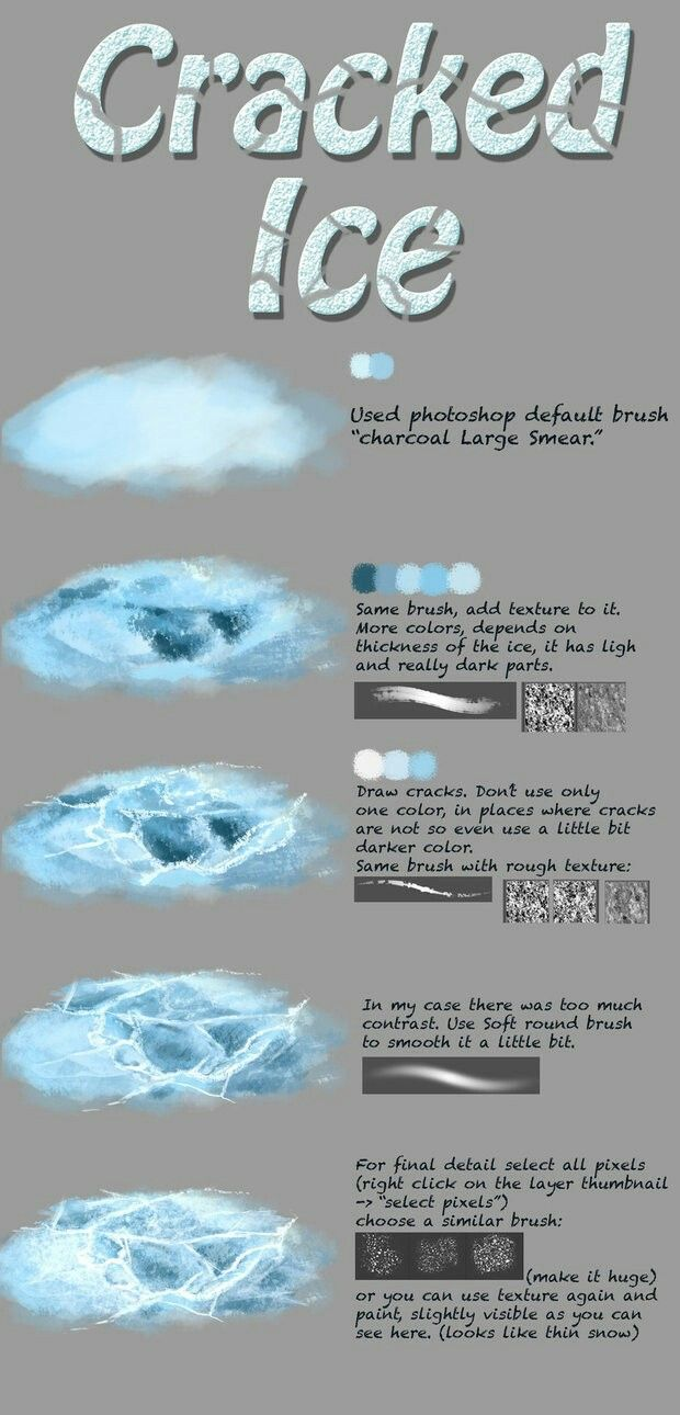 Ice cracked tutorial digital reference