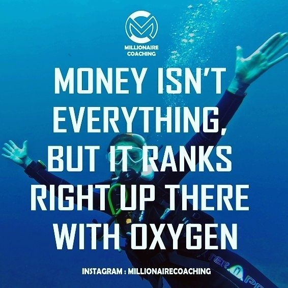 regram @millionairecoaching Money isn't everything but it ranks right up there with oxygen.  #zigziglar #zigziglarquotes . . . . . #millionairecoaching #millionaire #coaching #6figures #homebusiness  #makemoneyonline #makemoney #successquotes #quotes #businessquotes  #motivationalquotes #businessopportunity #leadership  #financialfreedom #inspirationalquotes #luxury #quoteoftheday  #qotd #oxygen #onlinebusiness #business #entrepreneur #bestquotes  #millionairelifestyle #lifequotes…