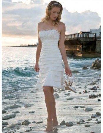 47 best Beach Wedding Dresses images on Pinterest | Short wedding ...