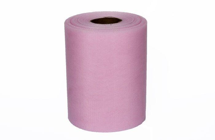 91 meter aan zacht roze tule op rol. Verkrijgbaar in verschillende formaten. Perfect om eigen versieringen mee te maken. Vandaag besteld, morgen in huis.