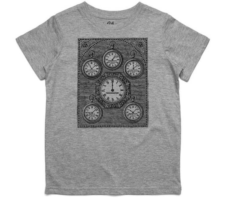 El Cheapo Antique International Clock Toddler Grey Marle T-Shirt