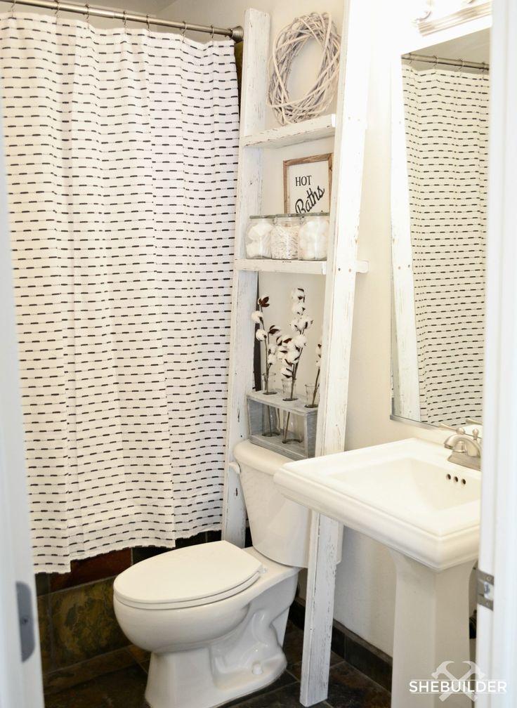 Best 25 over toilet storage ideas on pinterest shelves for Washroom storage ideas