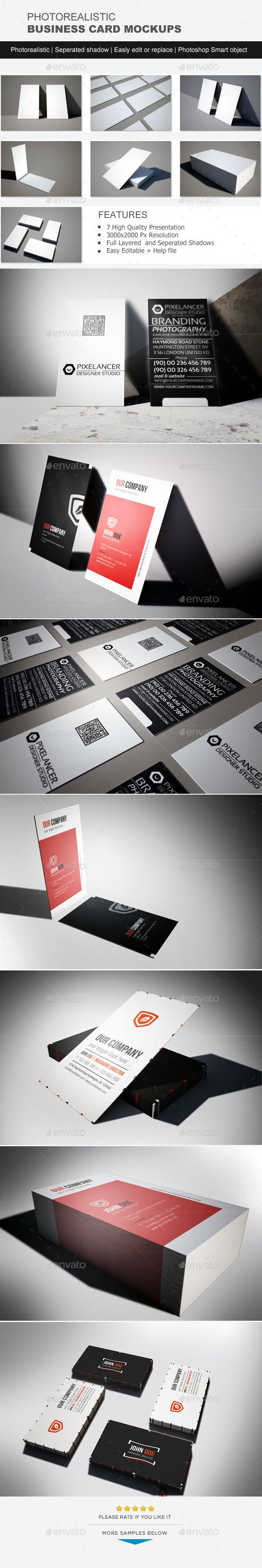 720 best business card mockup images on pinterest miniatures photorealistic business card mock up reheart Choice Image
