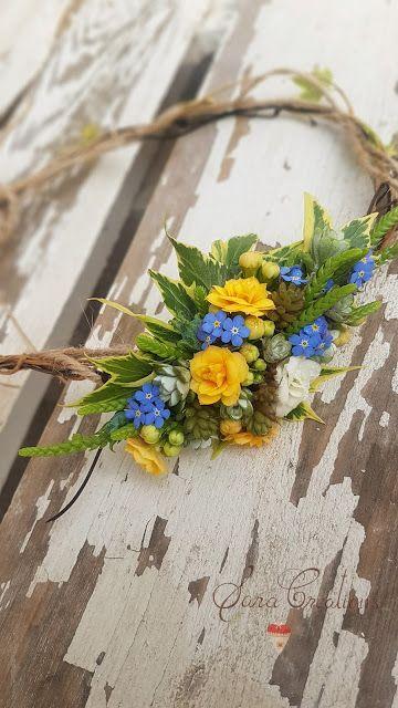 Sara Creations - bijuterie florală   - accesoriu păr - flori naturale