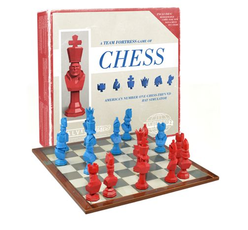 Team Fortess 2 Chess Set Features Swappable Hats