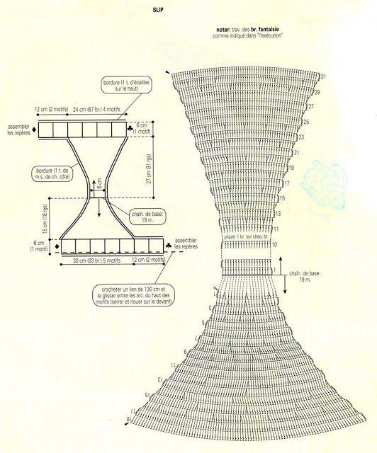 bikini bottom crochet chart pattern