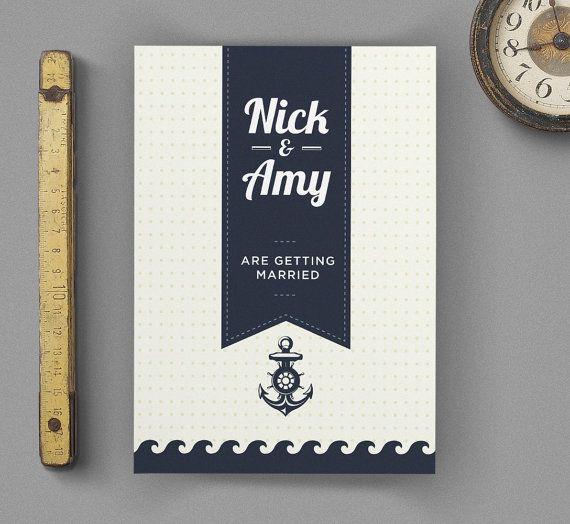 Nautical Printable DIY Wedding Invitation £11.94