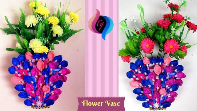 Pinterest & Paper flower vase making step by step - How to make a flower ...