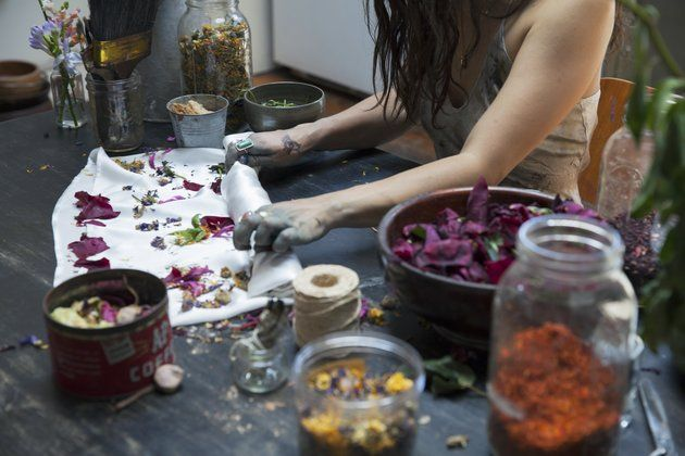 This Designer Uses Flower Waste To Make Truly Magical Clothing. Kinda like tie-dye. Cara Marie Piazza.