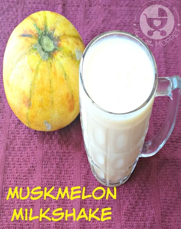 Muskmelon Milkshake or cantaloupe Milkshake Recipe, a refreshing cool summer drink