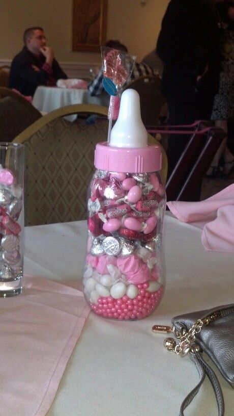 Baby shower centerpiece for main table. Its actually a ...