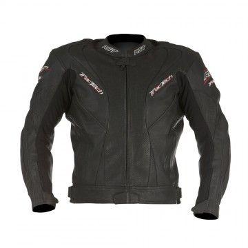 Kurtka RST TracTech black męska skórzana   RST TracTech Leather Jacket Man #Motomoda24