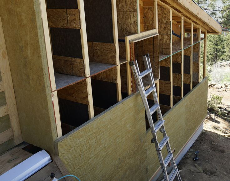 The wall insulation for this foam free house will consist for Mineral wool wall insulation