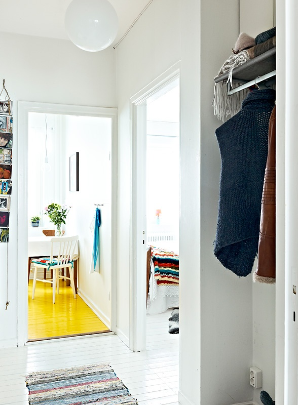 yellow floors: Colour Floors, Delight Houses, Crafts Rooms, Houses Floors, Beautiful Interiors, White Floors, Yellow Floors, Yellow Kitchens, Paintings Floors
