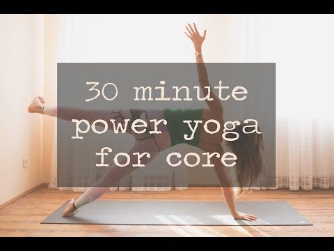 30 Minute Power Yoga for Core — YOGABYCANDACE