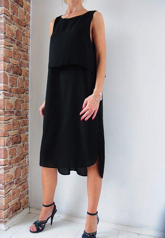4e195864c8 Atmosphere sukienka czarna elegancka sukienka 44 - vinted.pl