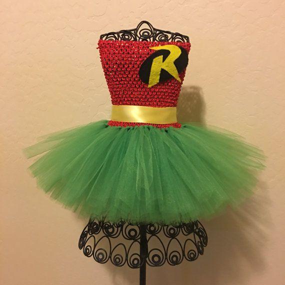 Custom Robin tutu disfraz Robin Batman y Robin