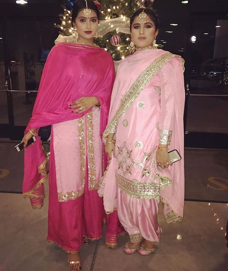These ladies are all set for a traditional Punjabi event! Photo credit Makeupbygur on Instagram.