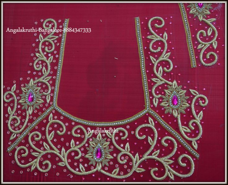 Bridal Blouse neck designs by Angalakruthi