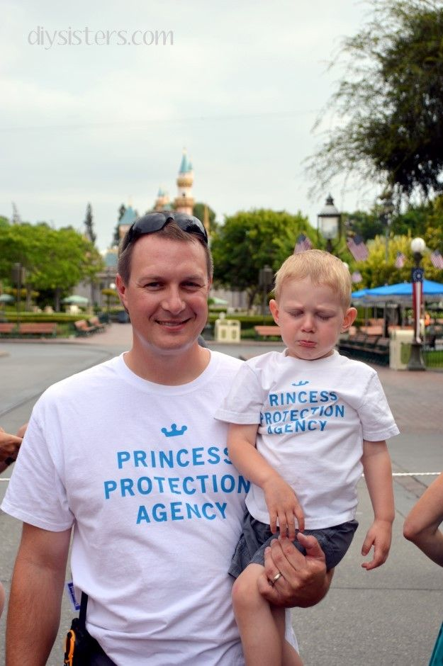 DIY Disney Shirts for the boys. I can wear the one that says I'm 99.9% sure I'm a Disney princess...