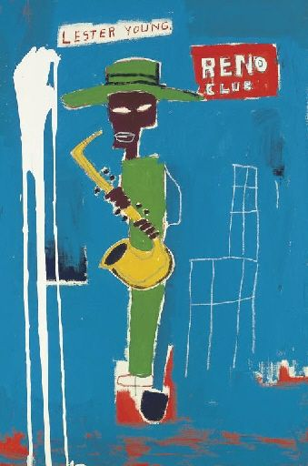 Artwork by Jean Michel Basquiat, In the Wings, Made of acrylic and oilstick on canvas