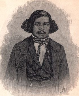 Early slave guide Stephen Bishop of Mammoth Caves in Kentucky.