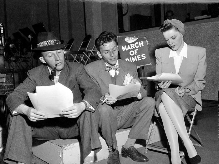 Bing Crosby #bornonthisday with Frank Sinatra and Judy Garland, 1940s