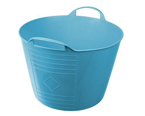 Flexi Tub Tragekorb Gartenkorb W�schekorb Spielzeugeimer 15 Liter blau rund