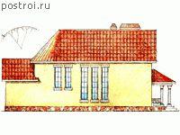 Проекты домов с зимним садом № W-279-1K - вид справа