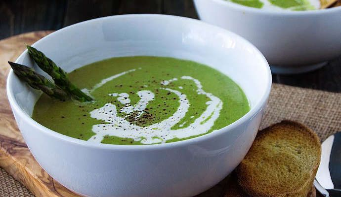 Крем-суп из спаржи