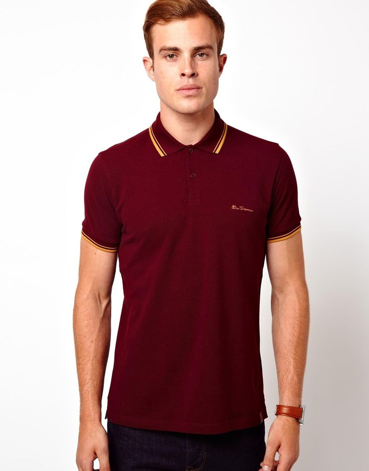 Ben Sherman Polo with Tipped Collar & Cuff