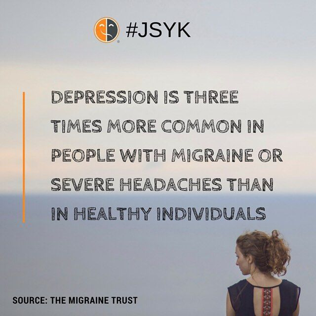 migraine and depression - in case this wasn't obvious