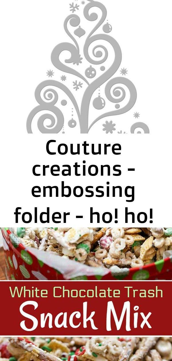 Ho Ho Ho Pere Noel Couture creations   embossing folder   ho! ho! ho! collection (5x7